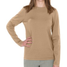 Pendleton Jewel Crew Neck Sweater - Silk Blend (For Women) in Cameo - Closeouts