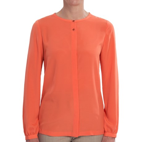 Pendleton Jewel Neck Blouse - Long Sleeve (For Women) in Nasturium