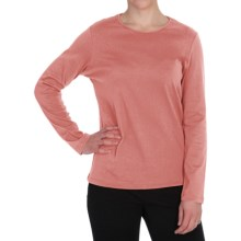 Pendleton Jewel Neck Cotton T-Shirt - Long Sleeve (For Women) in Apricot Heather - Closeouts