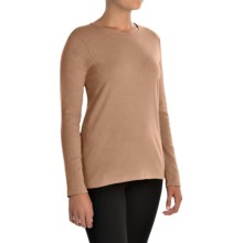 Pendleton Jewel Neck Cotton T-Shirt - Long Sleeve (For Women) in Camel Heather - Closeouts