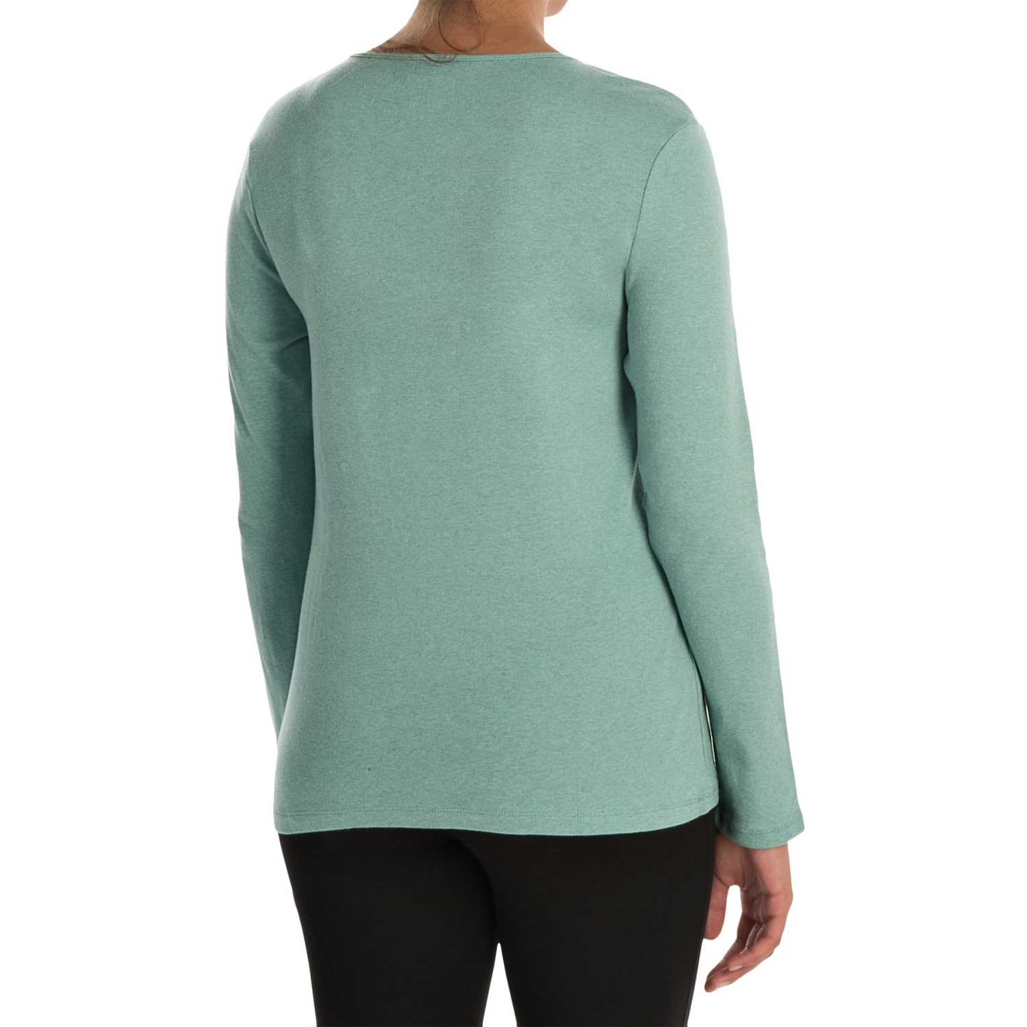 Pendleton jewel neck cotton t shirt for women save 44 for Long sleeve cotton tee shirts