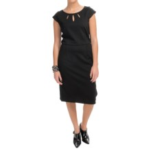 Pendleton Juliette Dress - Short Sleeve (For Women) in Black Ponte - Closeouts