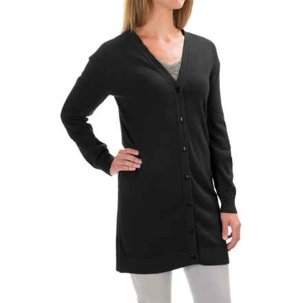 Pendleton Kyra Cardigan - Silk, Long Sleeve (For Women) in Black - Closeouts