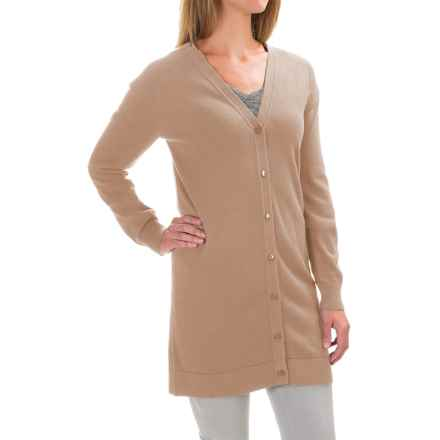 Pendleton Kyra Cardigan - Silk, Long Sleeve (For Women) in Dune - Closeouts