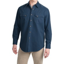 Pendleton Laramie Twill Shirt - Snap Front, Long Sleeve (For Men) in Dark Denim - Closeouts