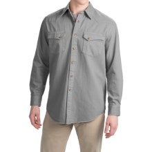 Pendleton Laramie Twill Shirt - Snap Front, Long Sleeve (For Men) in Medium Grey - Closeouts
