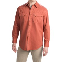 Pendleton Laramie Twill Shirt - Snap Front, Long Sleeve (For Men) in Rust - Closeouts