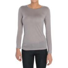 Pendleton Layer Me T-Shirt - Modal, Round Neck, Long Sleeve (For Women) in Grey - Closeouts