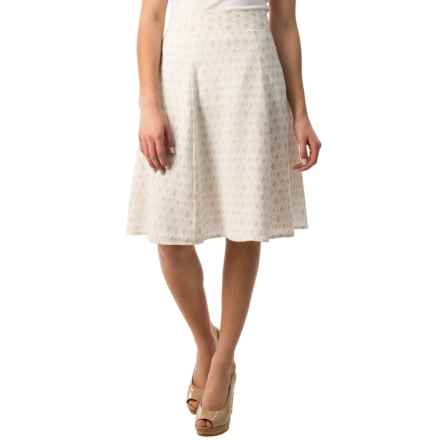Pendleton Lila Crepe Skirt (For Women) in White/Oxford Tan - Closeouts