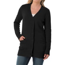 Pendleton Long Coventry Cardigan Sweater (For Women) in Black - Closeouts