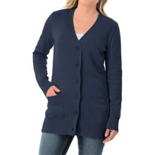 Pendleton Long Coventry Cardigan Sweater (For Women) in Indigo - Closeouts