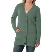 Pendleton Long Coventry Cardigan Sweater (For Women) in Wintergreen Heather - Closeouts
