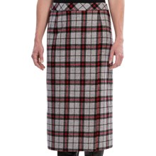 Pendleton Lorna Skirt - Wool, Wrap Front (For Women) in Grey/Red - Closeouts