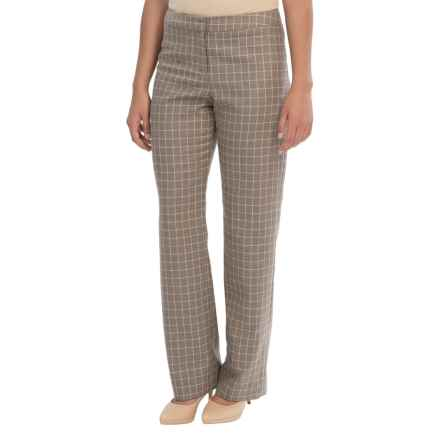 Pendleton Madison Worsted Wool Pants - Classic Fit (For Women) in Soft Brown Mix Tattersal - Closeouts