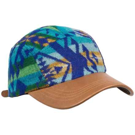 Pendleton Maize Spirit Cap - Wool Jacquard, Leather Bill (For Men and Women) in Bright Blue - Closeouts