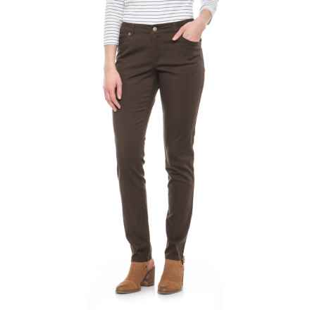 Pendleton Malin TENCEL® Pants - Mid Rise, Straight Leg (For Women) in Deep Taupe - Closeouts