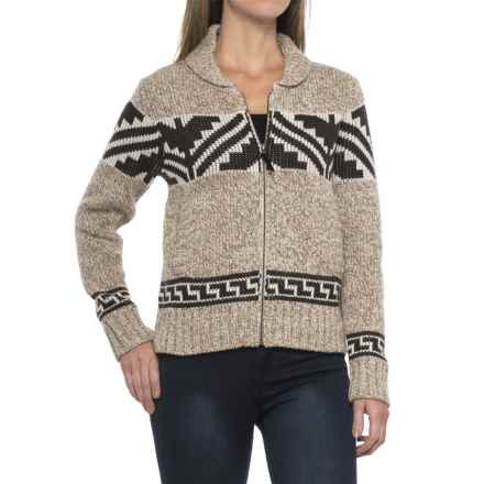 Pendleton Maude Cardigan Sweater - Zip Front (For Women) in Natural Heather Multi - Closeouts