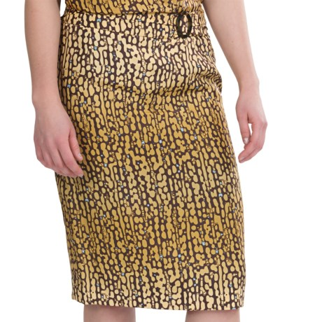 Pendleton Meru Skirt - Washable Silk (For Women) in Gold/Mink
