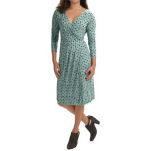 Pendleton Mimi Knit Dress - 3/4 Sleeve (For Women) in Azure - Closeouts