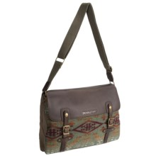 Pendleton Mineral Messenger Bag (For Women) in Diamond River Sage - Closeouts