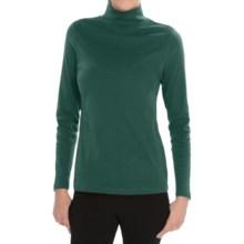 Pendleton Mock Neck Shirt - Cotton Rib, Long Sleeve (For Women) in Bistro Green - Closeouts