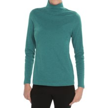 Pendleton Mock Neck Shirt - Cotton Rib, Long Sleeve (For Women) in Brittany Blue Heather - Closeouts