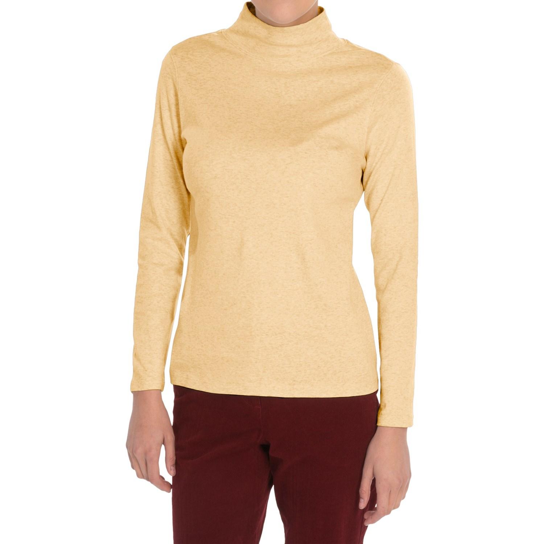 Pendleton Mock Neck Shirt Cotton Rib Long Sleeve For