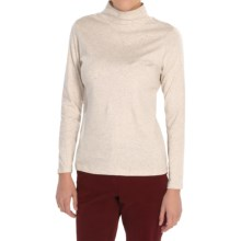 Pendleton Mock Neck Shirt - Cotton Rib, Long Sleeve (For Women) in Natural - Closeouts