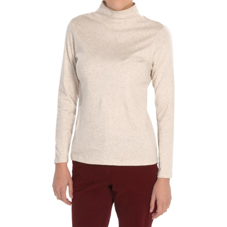 Pendleton Mock Neck Shirt - Cotton Rib, Long Sleeve (For Women)