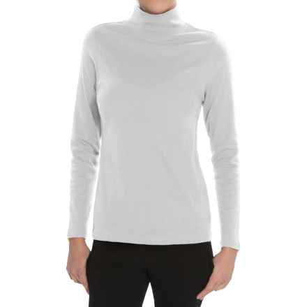 Pendleton Mock Neck Shirt - Cotton Rib, Long Sleeve (For Women) in White - Closeouts