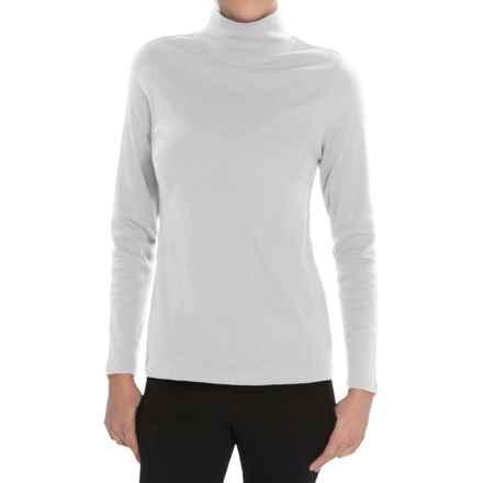 Pendleton Mock Neck Shirt - Cotton Rib, Long Sleeve (For Women) in White - Closeouts