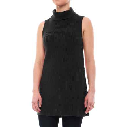 Pendleton Mock Tunic Sweater - Cotton-Cashmere, Sleeveless (For Women) in Black - Closeouts