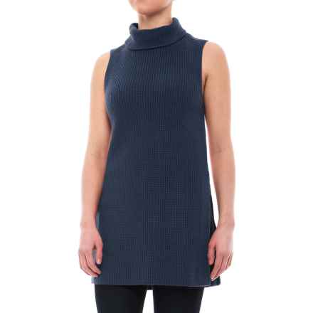 Pendleton Mock Tunic Sweater - Cotton-Cashmere, Sleeveless (For Women) in Indigo - Closeouts