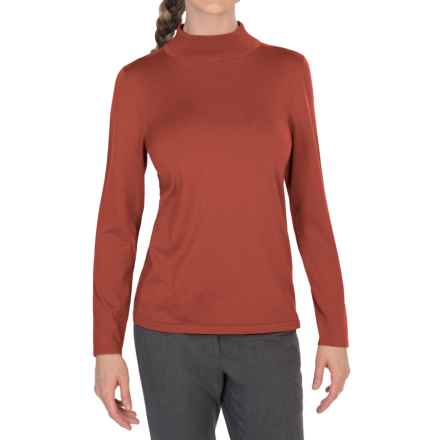 Pendleton Mock Turtleneck Sweater - Silk Blend (For Women) in Autumn Glaze - Closeouts