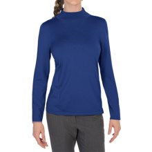 Pendleton Mock Turtleneck Sweater - Silk Blend (For Women) in Blue - Closeouts