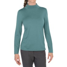 Pendleton Mock Turtleneck Sweater - Silk Blend (For Women) in Brittany Blue - Closeouts