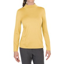 Pendleton Mock Turtleneck Sweater - Silk Blend (For Women) in Cornsilk - Closeouts
