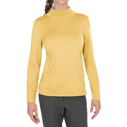 Pendleton Mock Turtleneck Sweater - Silk Blend (For Women) in Cornsilk - Closeouts