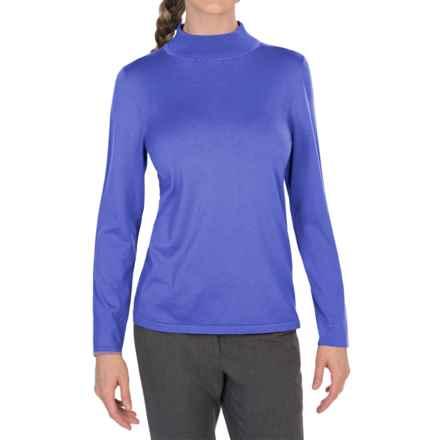 Pendleton Mock Turtleneck Sweater - Silk Blend (For Women) in Dutch Blue - Closeouts
