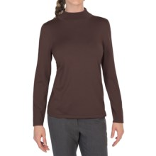 Pendleton Mock Turtleneck Sweater - Silk Blend (For Women) in French Roast - Closeouts