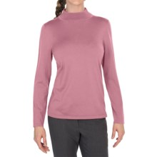 Pendleton Mock Turtleneck Sweater - Silk Blend (For Women) in Petal - Closeouts