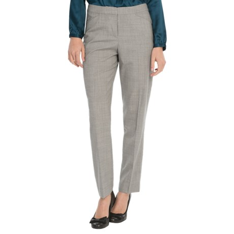 Pendleton Modern Fit Ultra 9 Slim Pants - Stretch Wool (For Women) in Grey Mix