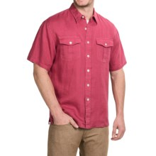 Pendleton Morrison Linen Shirt - Short Sleeve (For Men) in Berry - Closeouts