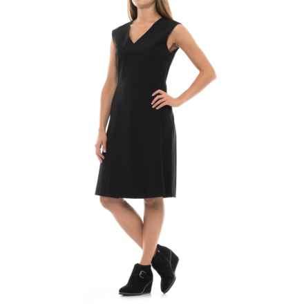 Pendleton Natalie Wool Dress - Sleeveless (For Women) in Black Gabardine - Closeouts
