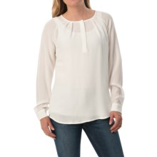 Pendleton Nina Silk Blouse - Long Sleeve (For Women) in Ivory - Closeouts