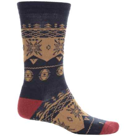 Pendleton Nordic Camp Socks - Merino Wool Blend, Crew (For Men and Women) in 52 Navy - Closeouts