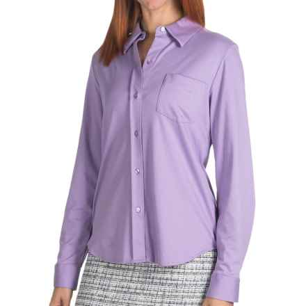 Pendleton Notting Hill Shirt - Cotton, Long Sleeve (For Women) in Wisteria - Closeouts