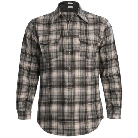 Pendleton Outdoor Shirt - Wool, Long Sleeve (For Men) in Black/Beige Plaid