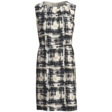 Pendleton Paintbrush Print Silk Dress - Sleeveless (For Women) in Black/Ivory - Closeouts
