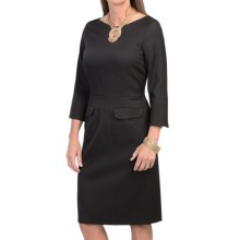Pendleton Park Avenue Virgin Wool Dress - 3/4 Sleeve (For Women) in Black - Closeouts